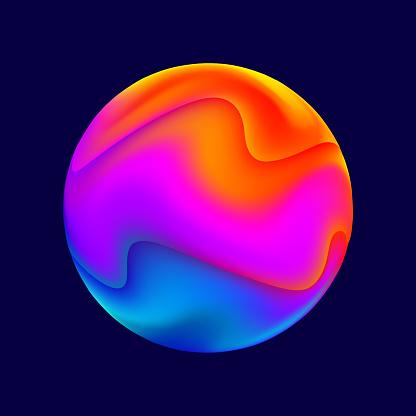 Liquid Colors Abstract Sphere - gettyimageskorea