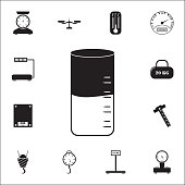 liquid density metericon. measuring elements icons universal set for web and mobile