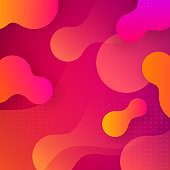 Liquid gradient shapes background.