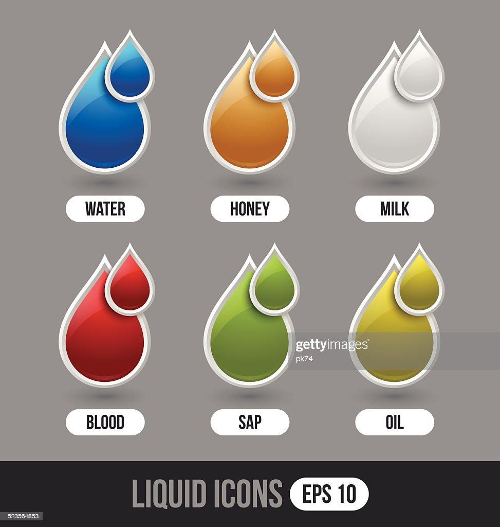 Liquid icons