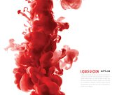 Liquid ink cloud. Vector abstract background. Isolated element.