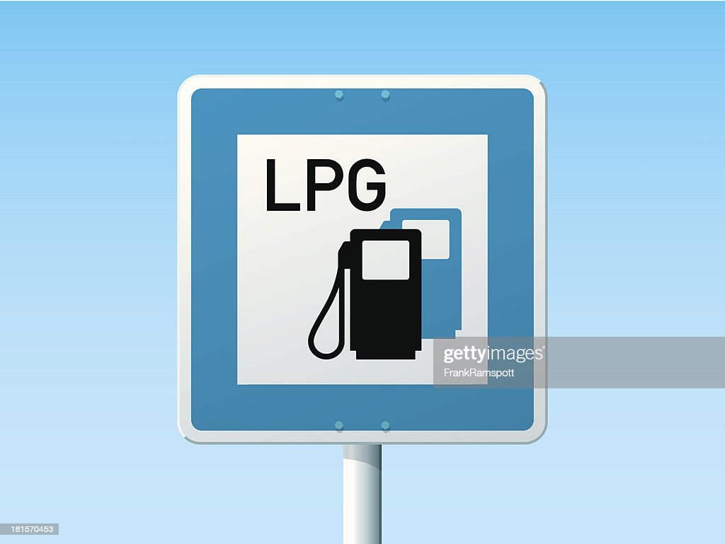 Liquid Petroleum Gas Station German Road Sign