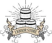liquor store label
