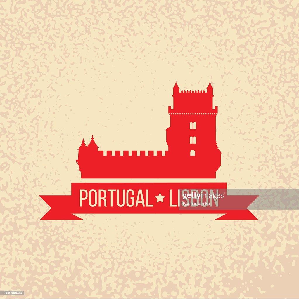 Lisbon symbol - Belem tower - vector illustration