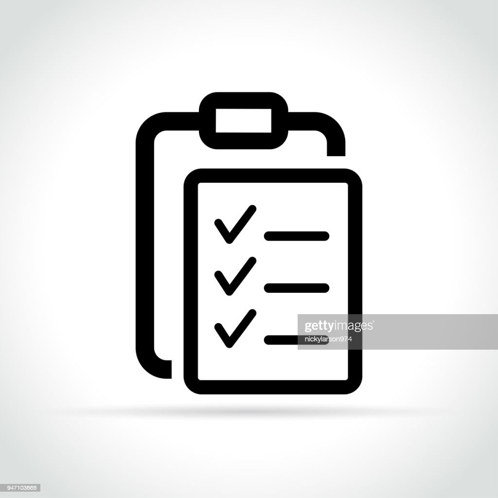 list icon on white background