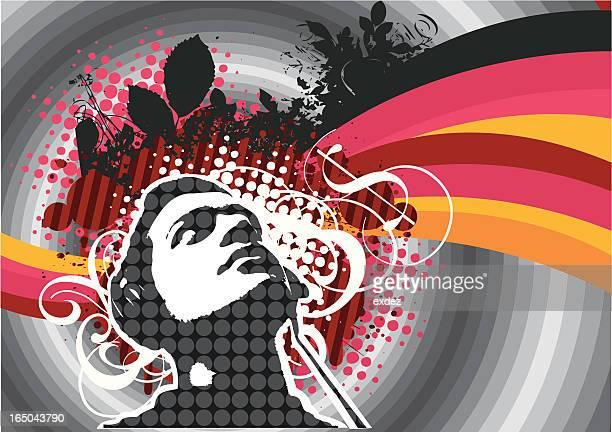ilustrações, clipart, desenhos animados e ícones de ouvinte design. - artistic product