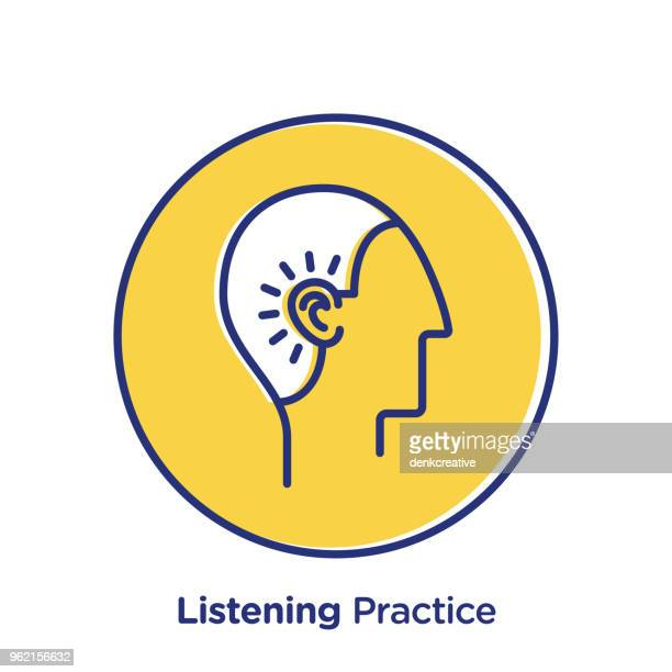 illustrations, cliparts, dessins animés et icônes de pratique de l'écoute - perte auditive
