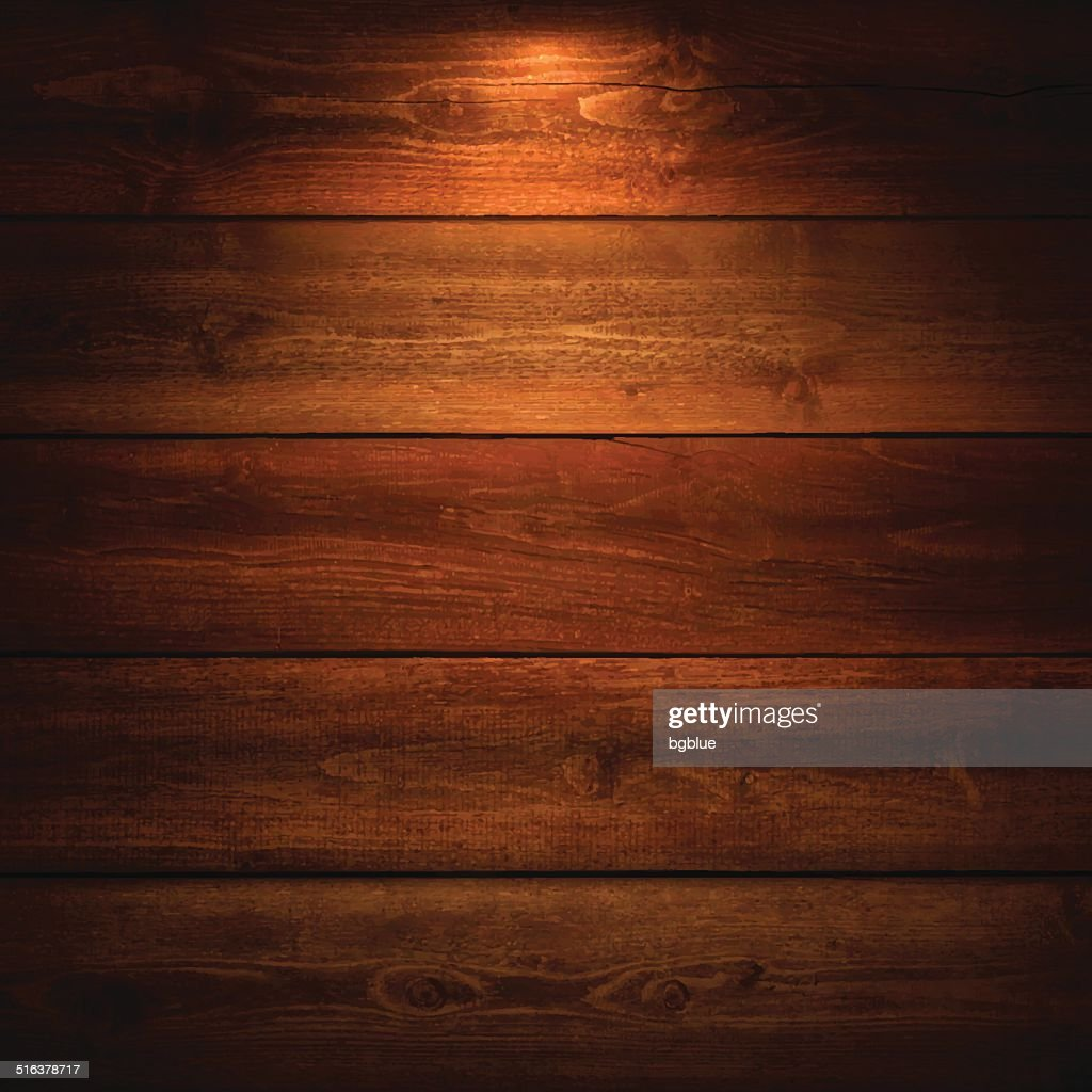 Lit Wooden Background