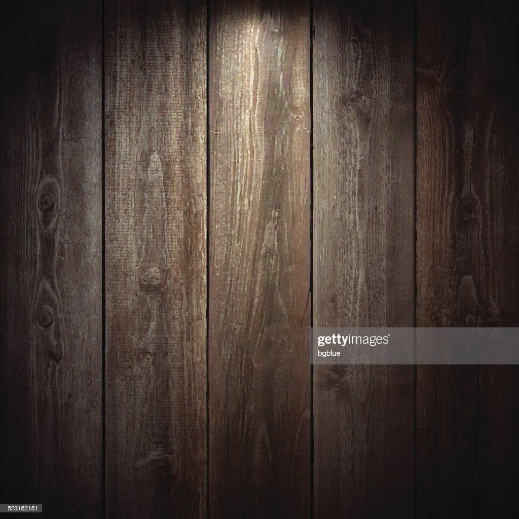 Lit Wooden Background : stock illustration