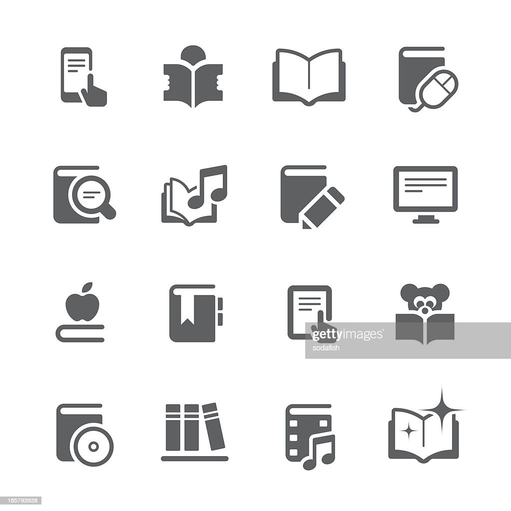 Literature and eBook icons  | prime series