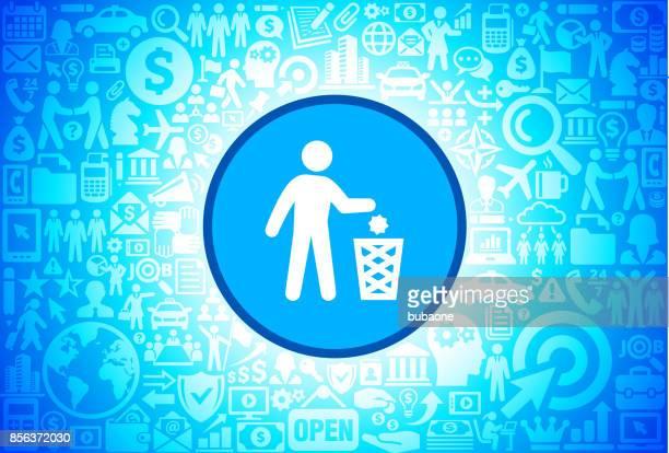 ilustraciones, imágenes clip art, dibujos animados e iconos de stock de litering icono en negocios y finanzas vector fondo - tirar basura