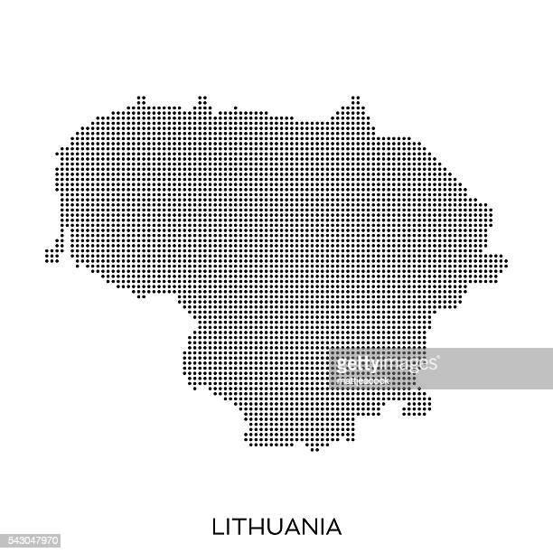 Lithuania dot halftone pattern map