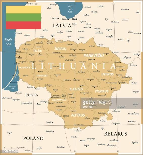 22 - Lithuania - Vintage Golden Dark 10