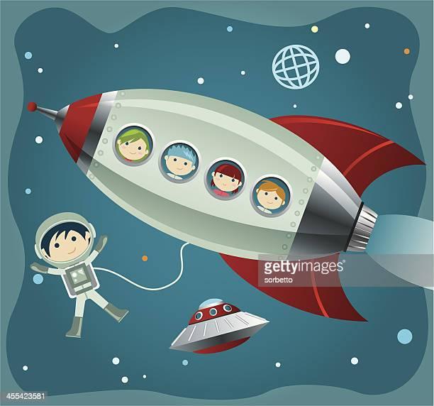 ilustrações de stock, clip art, desenhos animados e ícones de little astronauta - astronauta