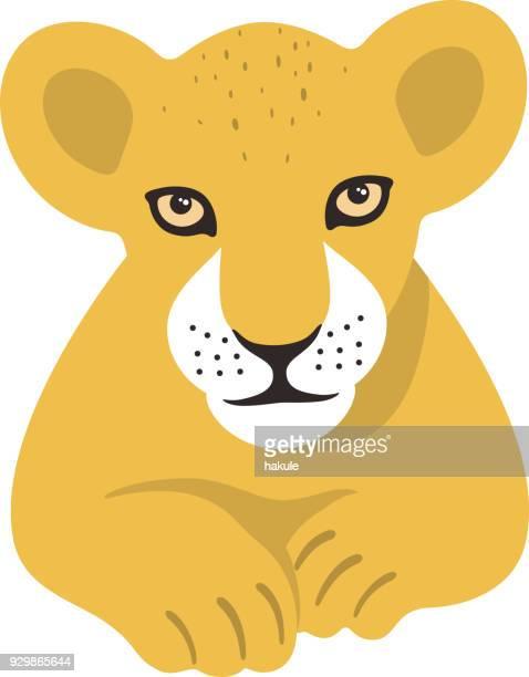 60点のライオンの子のイラスト素材クリップアート素材マンガ素材