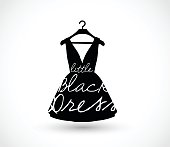 Little black dress on a hanger icon vector illustration