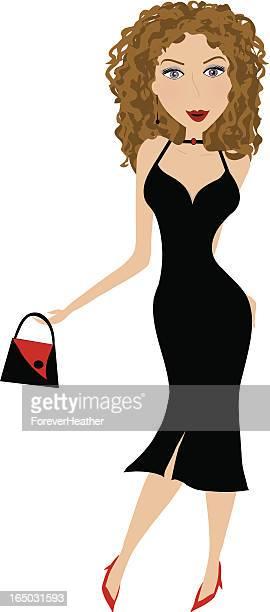 Little Black Dress Series #4 - Curly Brunette