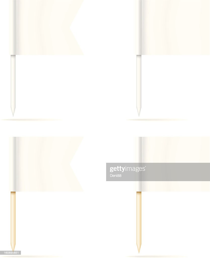 Little blank toothpick flags