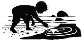 Little Boy at a Tide pool