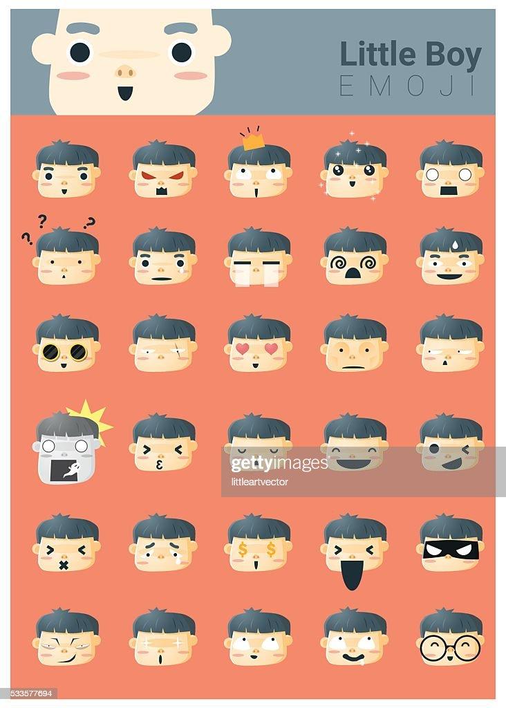 Little boy emoji icons
