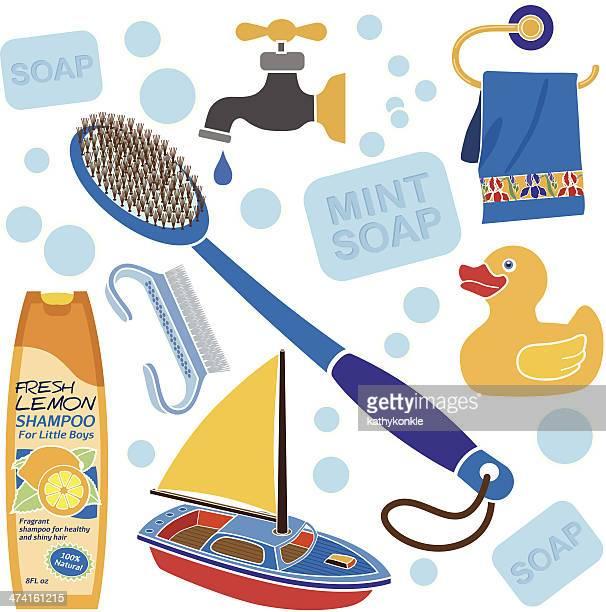 little boy's bath accessories