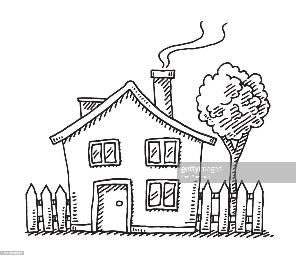 Little Cartoon House Drawing
