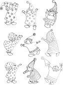 little children dream countur illustration