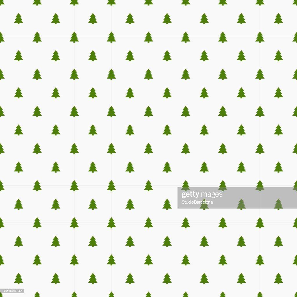 Little Christmas trees seamless pattern