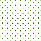 Little Christmas trees seamless pattern