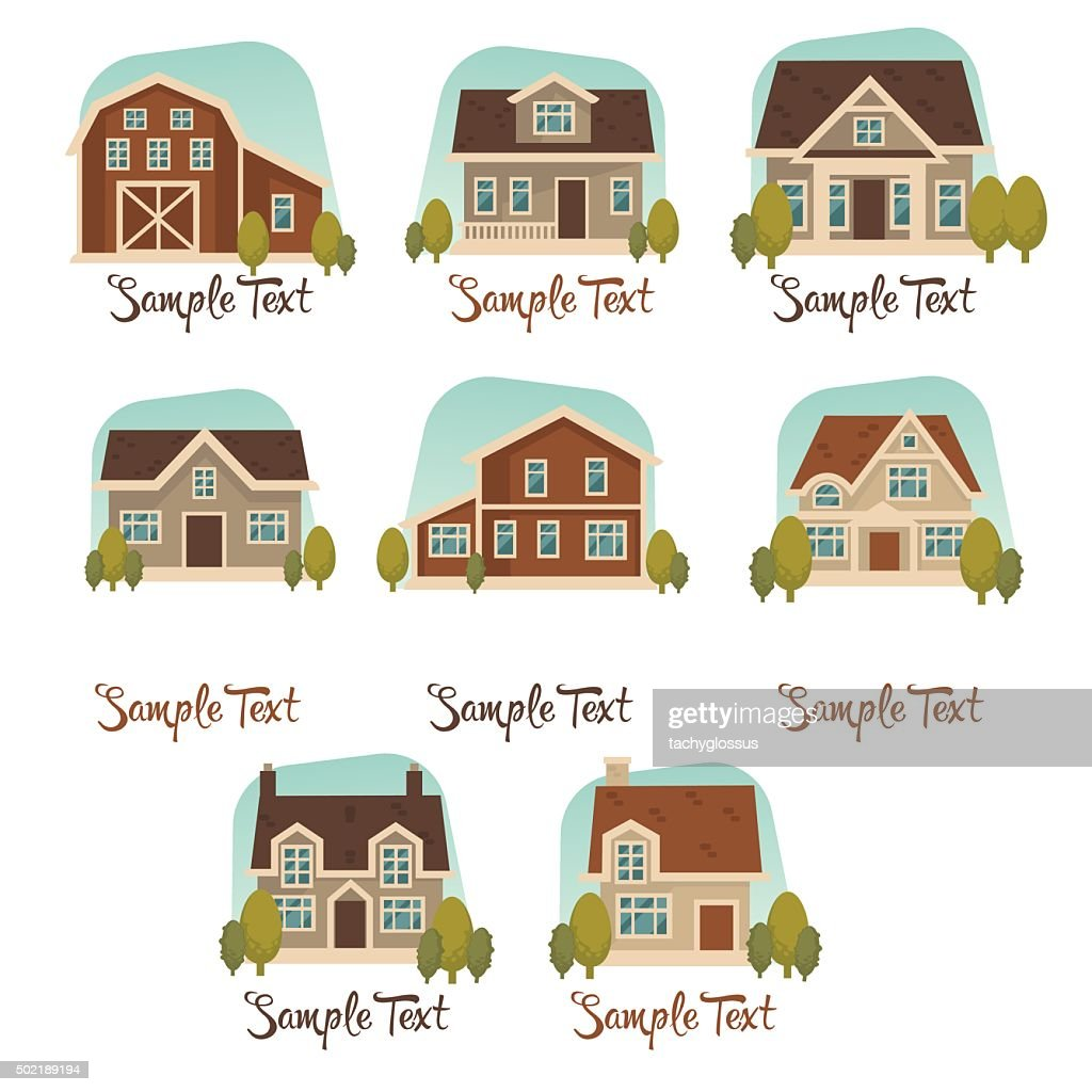 little cottage vector collection