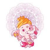 Little cute Ganesha.