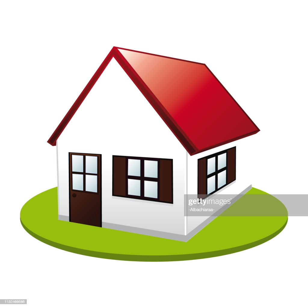 Little cute house. Real estate vector icon II.
