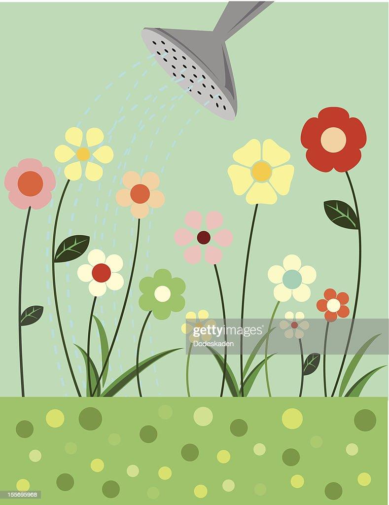 Little Flowers will Grow : stock illustration