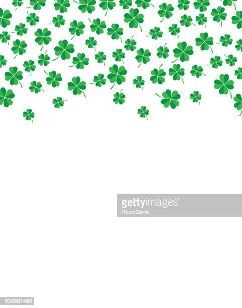 little four leaf clover leaves background - four leaf clover stock illustrations