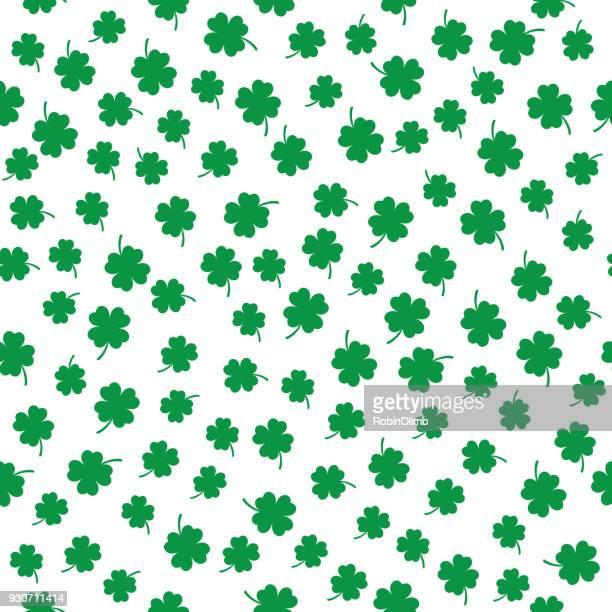 小さな 4 葉のクローバーのシームレス パターン - 聖パトリックの日点のイラスト素材/クリップアート素材/マンガ素材/アイコン素材