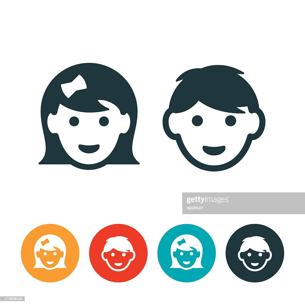 Little Girl and Boy Avatars