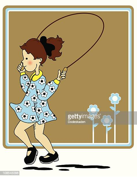 Little Girl and Skipping Rope