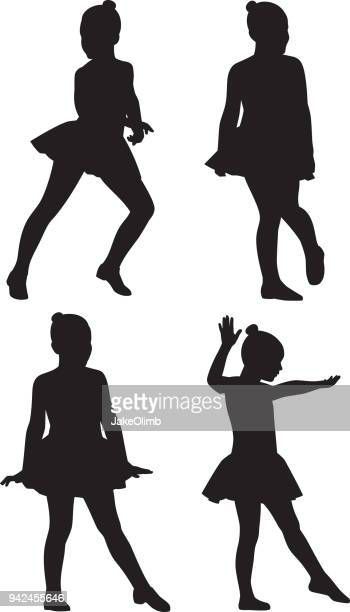 Little Girl Dancers Silhouettes