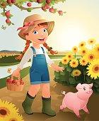 Little Girl on the farm