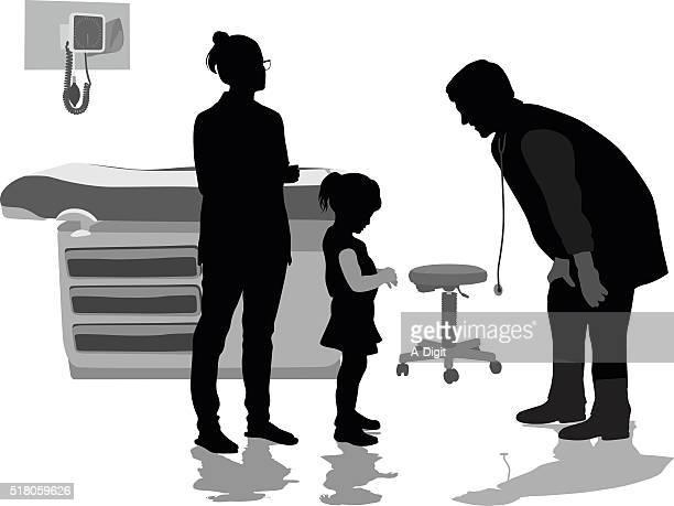 少女の小児科医、患者の設定 - 小児科医点のイラスト素材/クリップアート素材/マンガ素材/アイコン素材