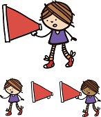 Little girl with loud hailer