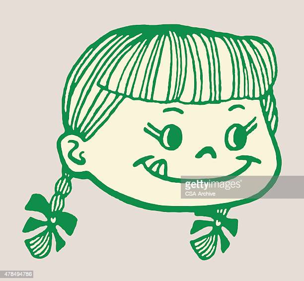 little girl with tongue hanging out - gourmet food stock illustrations, clip art, cartoons, & icons