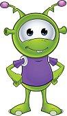 Little Green Alien - Hands On Hips