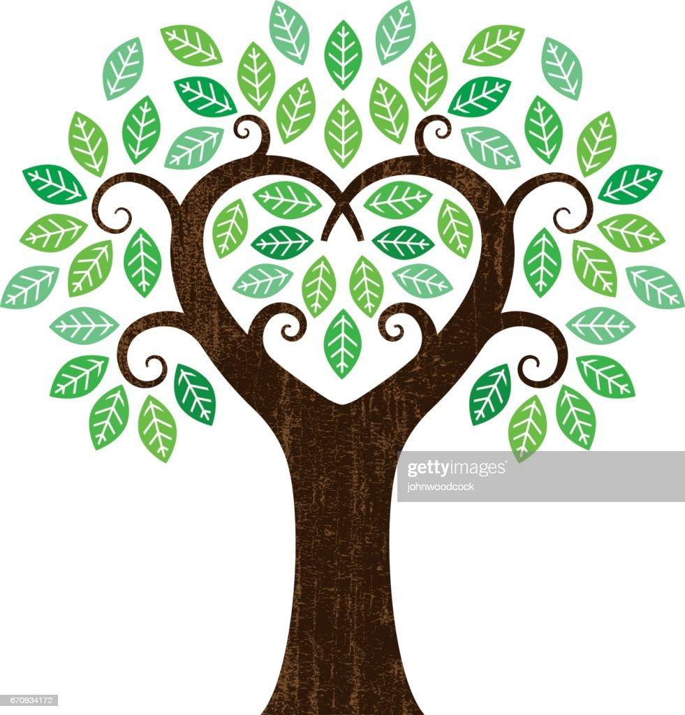 Little heart shaped tree : stock illustration