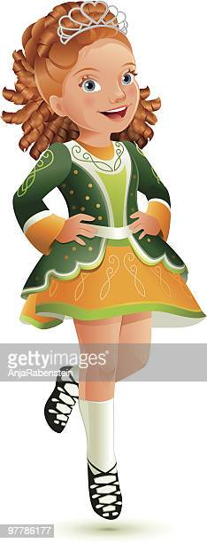 Little Irish Tap-Dancer celebrating St. Patrick's Day