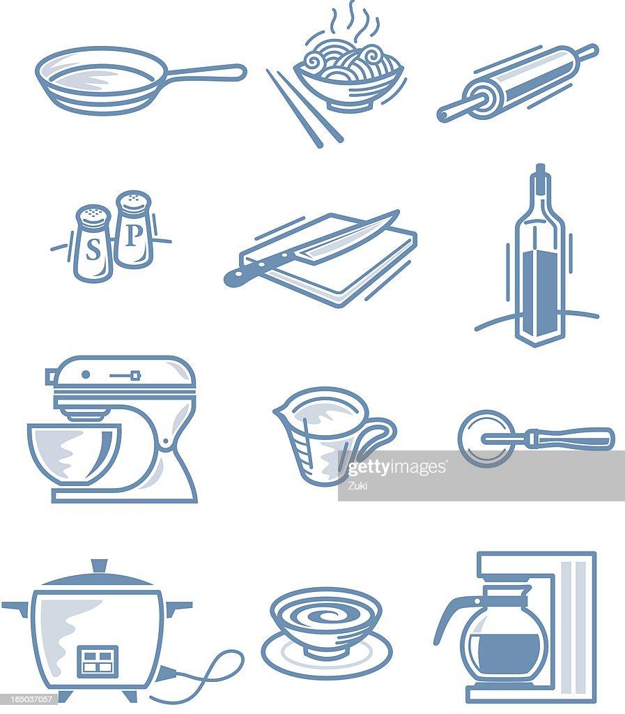 Little Kitchen Stuff Vector Art | Getty Images