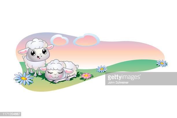 ilustrações, clipart, desenhos animados e ícones de cordeiro pouco - sheep