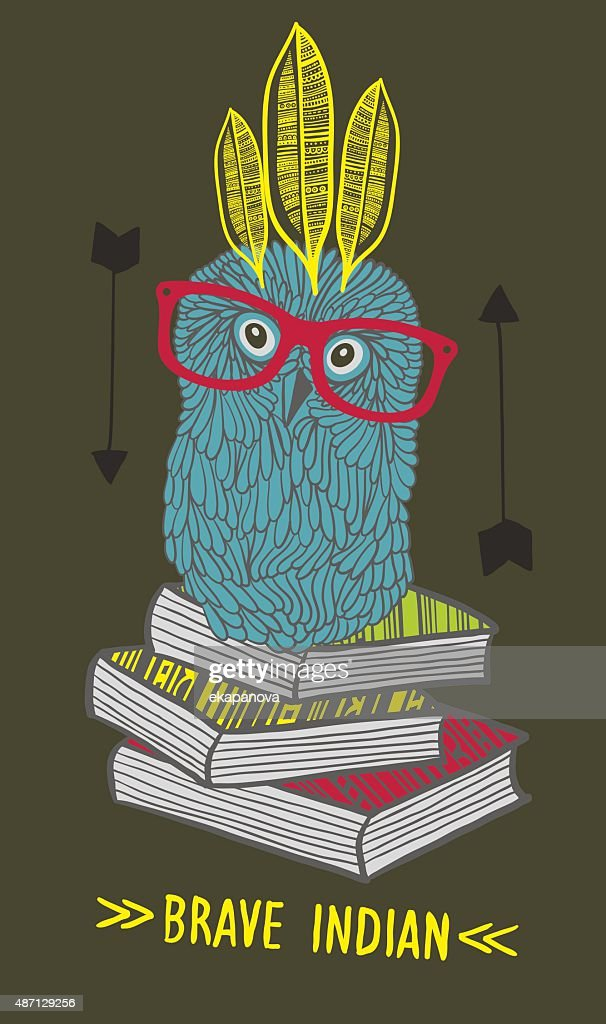 Little owl indian on the books.