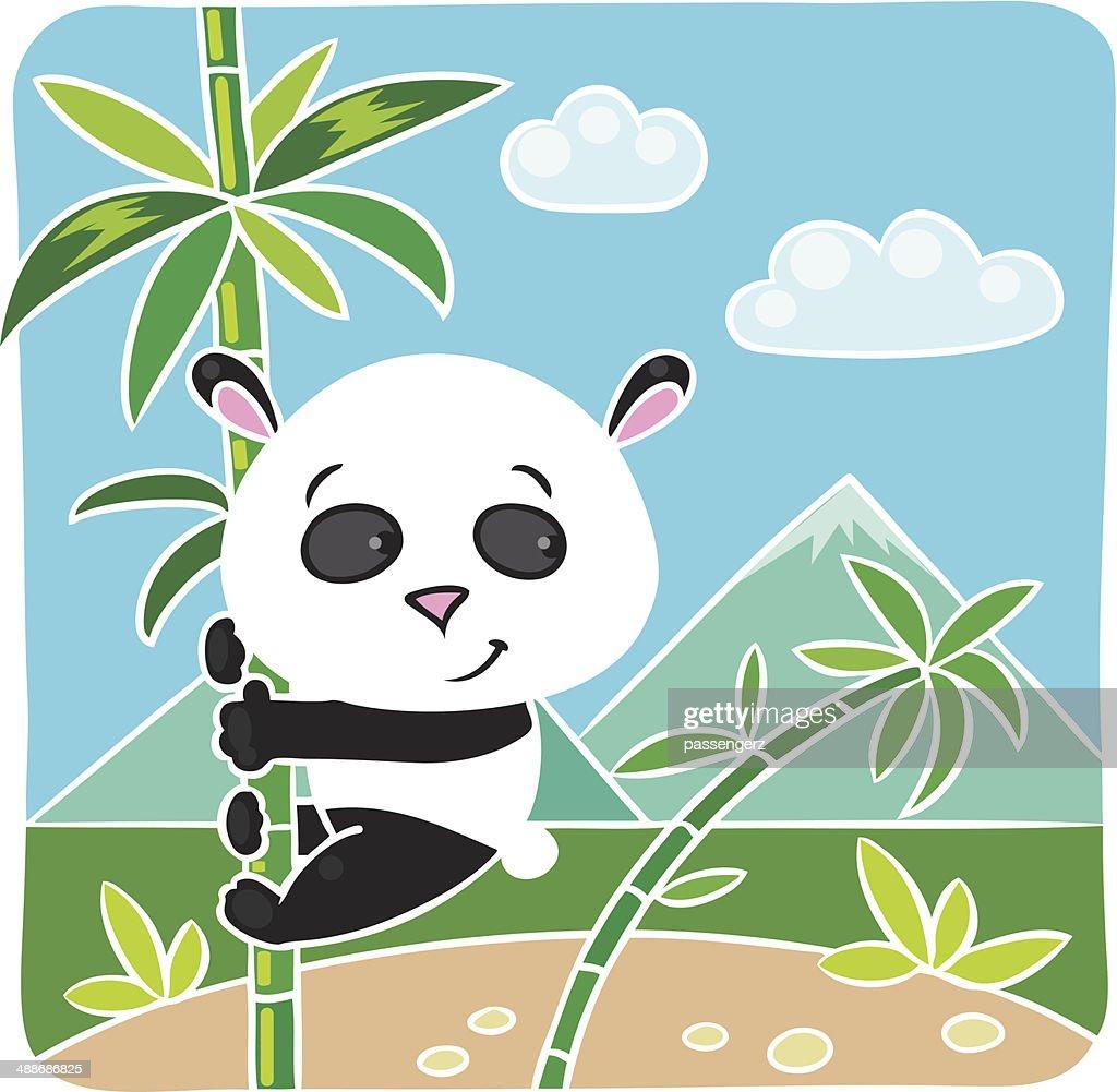 kleinen panda auf bambus stockillustration  getty images