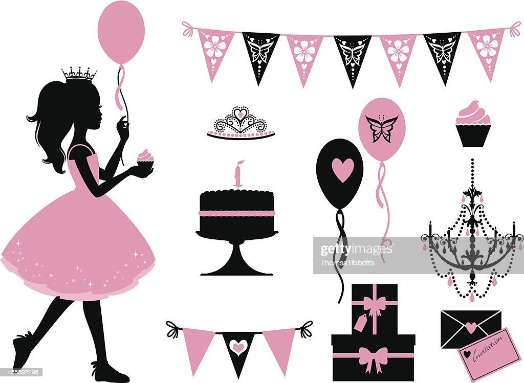 Little Party Princess : stock illustration